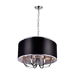 Orchid 30 inch Single Light Chandeliers with Chrome Finish