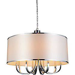 Orchid 30 inch 1 Light Chandeliers with Chrome Finish