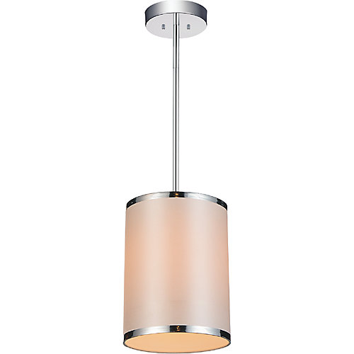 Orchid 7 inch 1 Light Mini Pendants with Chrome Finish