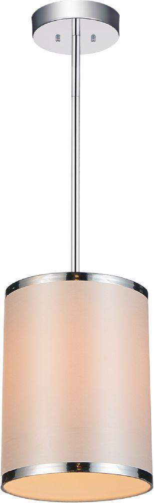 CWI Lighting Orchid 7 inch 1 Light Mini Pendants with Chrome Finish