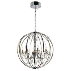 CWI Lighting Abia 34 inch 8 Light Chandeliers with Chrome Finish