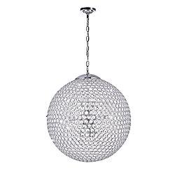 """CWI 20"""" Globe 9 Lumière Lustre avec Fini chromé"""