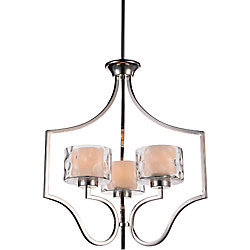 Lorri 22 inch 3 Light Chandelier with Chrome Finish