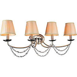 CWI Lighting Paulie 33 inch 4 Light Wall Sconce with Satin Nickel Finish