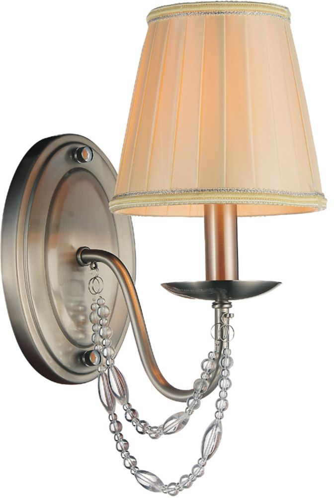 CWI Lighting Paulie 6 inch 1 Light Wall Sconce with Satin Nickel Finish
