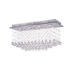 Mystical 32 inch 8 Light Flush Mount with Chrome Finish