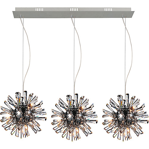 Flair 11 inch 27 Light Chandelier with Chrome Finish