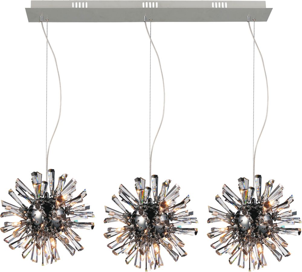 CWI Lighting Flair 11 inch 27 Light Chandelier with Chrome Finish