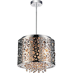 Bubbles 12 inch 4 Light Mini Pendant with Chrome Finish