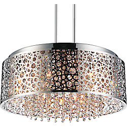 Bubbles 24 inch 9 Light Chandelier with Chrome Finish