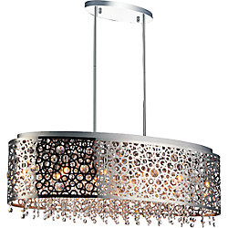 Bubbles 30 inch 11 Light Chandelier with Chrome Finish