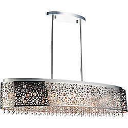 Bubbles 46 inch 16 Light Chandelier with Chrome Finish