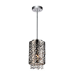 Bubbles 6 inch 1 Light Mini Pendant with Chrome Finish