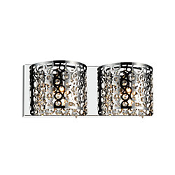 CWI Lighting Bubbles 16-inch 2 Light Wall Sconce with Chrome Finish