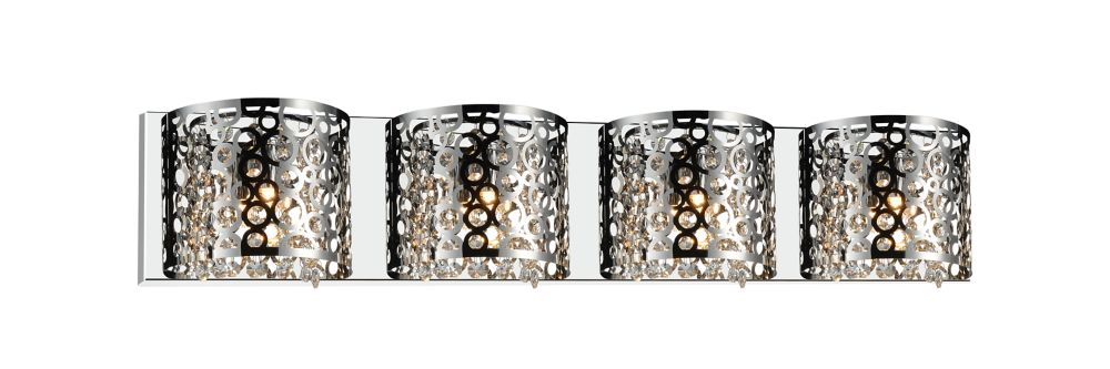 CWI Lighting Bubbles 34-inch 4 Light Wall Sconce with Chrome Finish