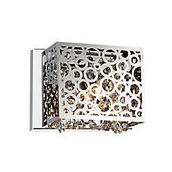 Bubbles 8 inch 1 Light Wall Sconce with Chrome Finish