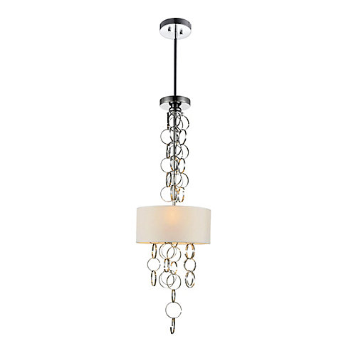 Chained 11 inch 3 Light Mini Pendant with Chrome Finish