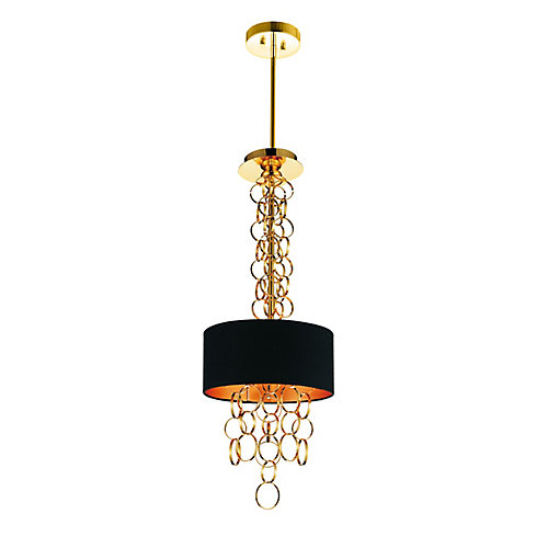 Chained 11 inch 3 Light Mini Pendant with Gold Finish
