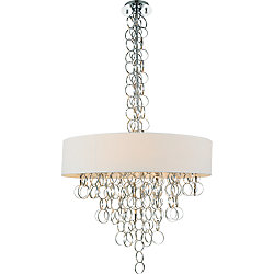 Chained 26 inch 8 Light Chandelier with Chrome Finish