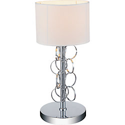 Chained 11 inch 1 Light Table Lamp with Chrome Finish
