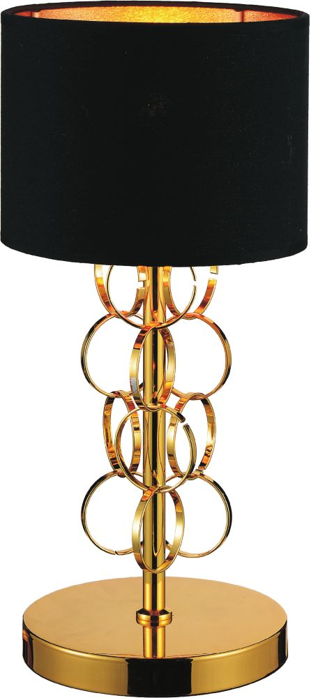 CWI Lighting Chained 11 inch 1 Light Table Lamp with Gold Finish