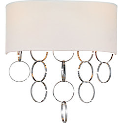 Chained 12 inch 2 Light Wall Sconce with Chrome Finish