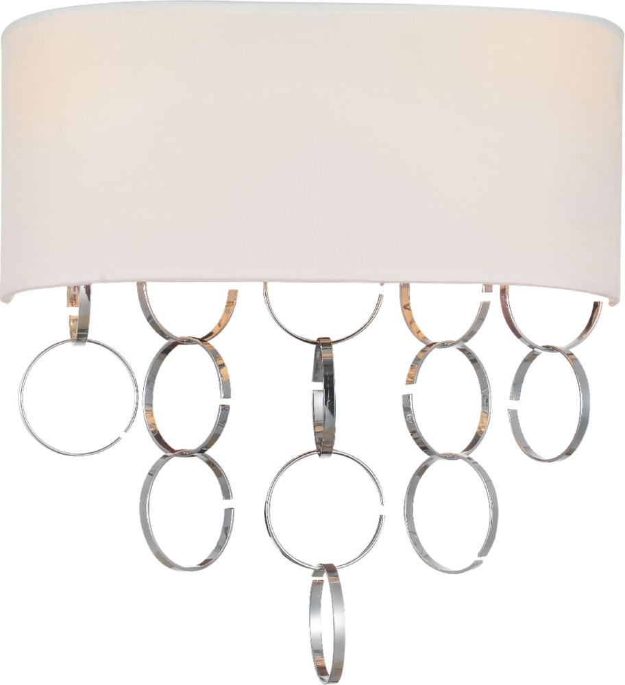 CWI Lighting Chained 12 inch 2 Light Wall Sconce with Chrome Finish