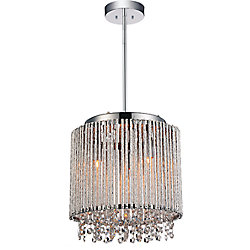Claire 10 inch 3 Light Mini Pendant with Chrome Finish
