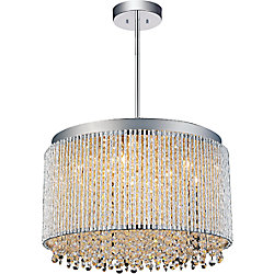 Claire 16 inch 10 Light Chandelier with Chrome Finish