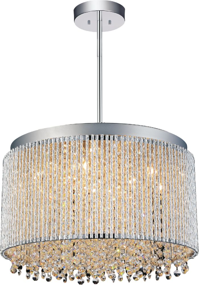 CWI Lighting Claire 16 inch 10 Light Chandelier with Chrome Finish
