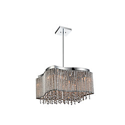 Claire 16 inch 8 Light Chandelier with Chrome Finish