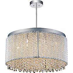 Claire 20-inch 12-Light Chandelier with Chrome Finish