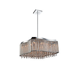 Claire 20 inch 6 Light Chandelier with Chrome Finish