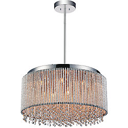 Claire 24 inch 14 Light Chandelier with Chrome Finish