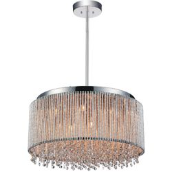 CWI Lighting Claire 24 inch 14 Light Chandelier with Chrome Finish