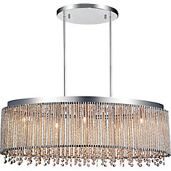 Claire 30 inch 5 Light Chandelier with Chrome Finish
