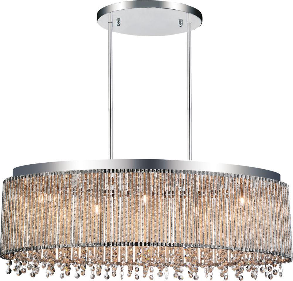 CWI Lighting Claire 30 inch 5 Light Chandelier with Chrome Finish