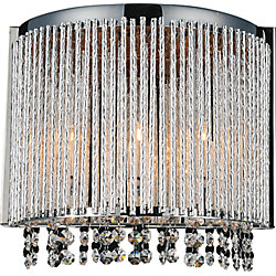 Claire 12 inch 3 Light Wall Sconce with Chrome Finish