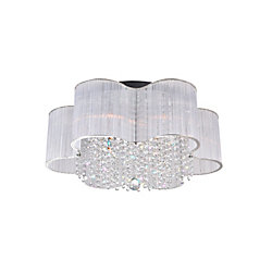 CWI Lighting Spring Morning 24 inch 9 Light Flush Mount with Chrome Finish