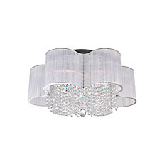 Spring Morning 24 inch 9 Light Flush Mount with Chrome Finish