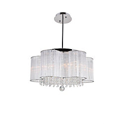 Spring Morning 20-inch 7 Light Chandelier with Chrome Finish