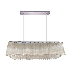 Spring Morning 32-inch 10 Light Chandelier with Chrome Finish