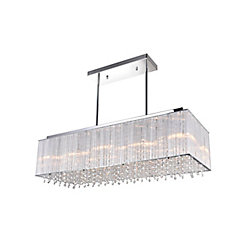 Spring Morning 32 inch 10 Light Chandelier with Chrome Finish