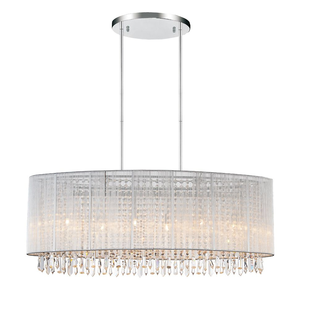 CWI Lighting Sheer 12 inch 6 Light Chandelier with Chrome Finish