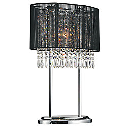 Sheer 6 inch 1 Light Table Lamp with Chrome Finish
