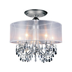 Halo 22 inch 5 Light Flush Mount with Chrome Finish