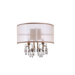 Halo 16 inch 2 Light Wall Sconce with French Gold Finish