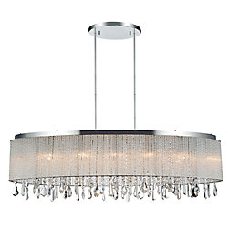 Benson 10 inch 5 Light Chandelier with Chrome Finish