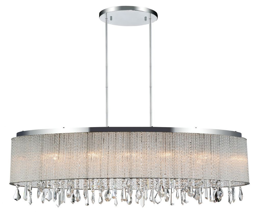 CWI Lighting Benson 10 inch 5 Light Chandelier with Chrome Finish