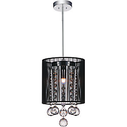 Shower 6 inch Single Light Mini Pendant with Chrome Finish